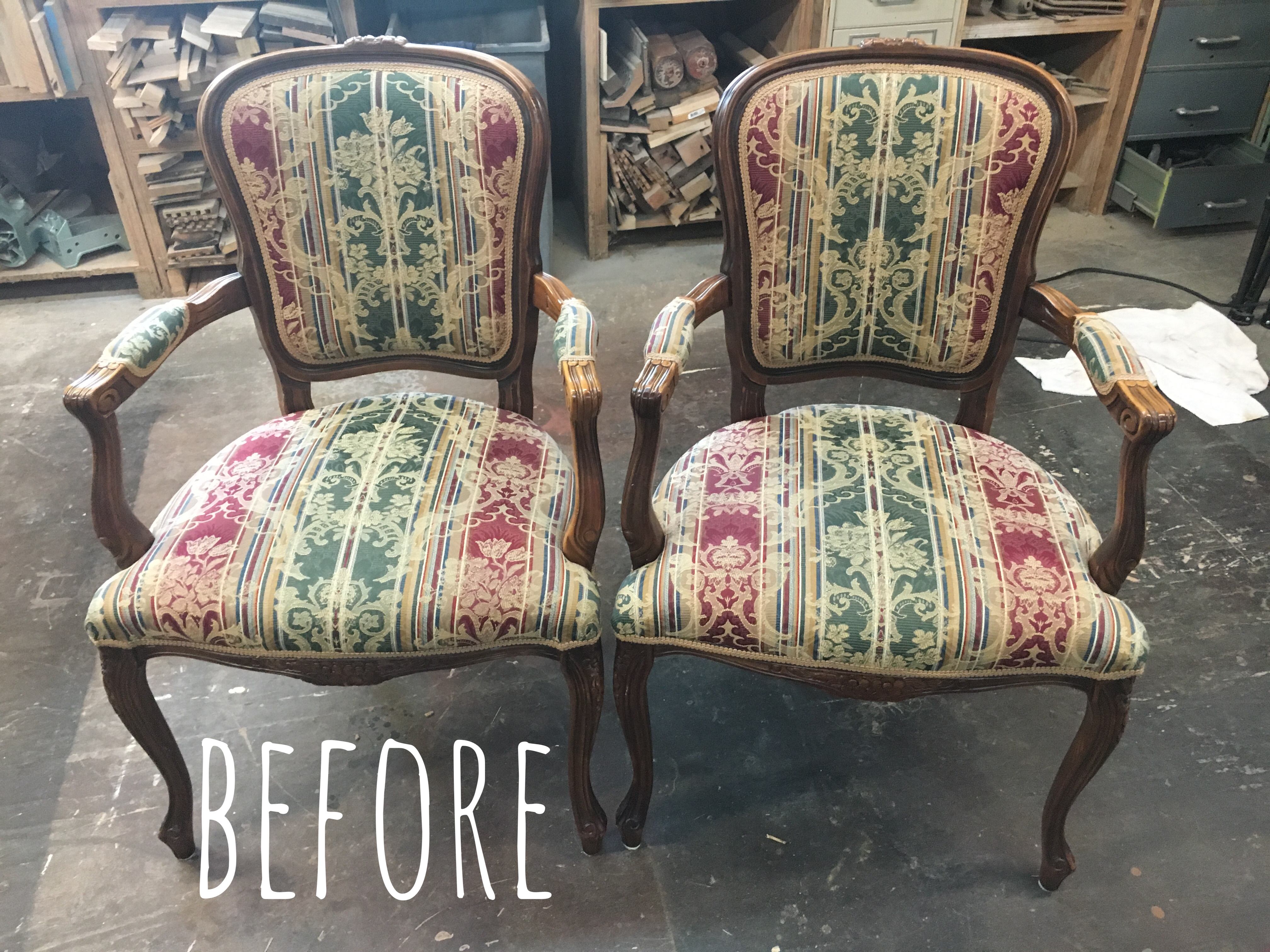 arm chair update, reupholstery