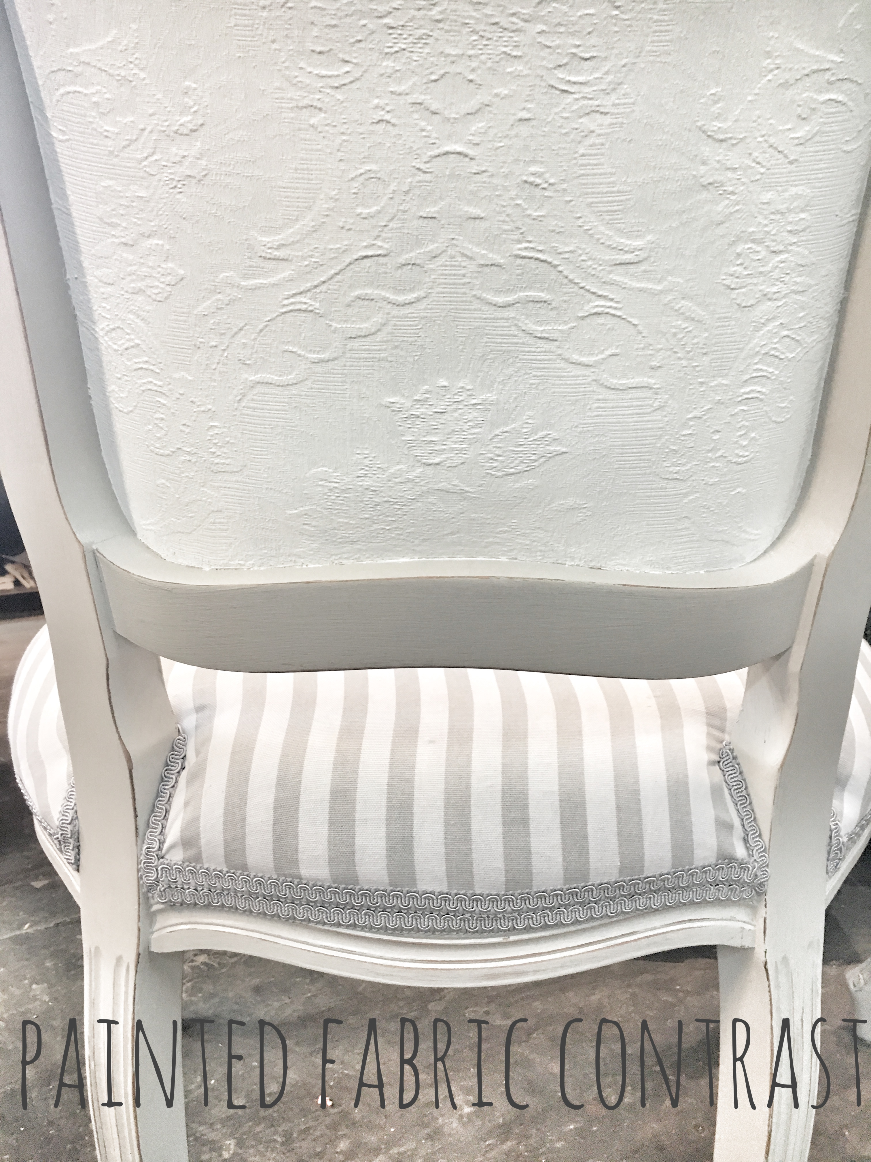 painted fabric contrast, updated chair