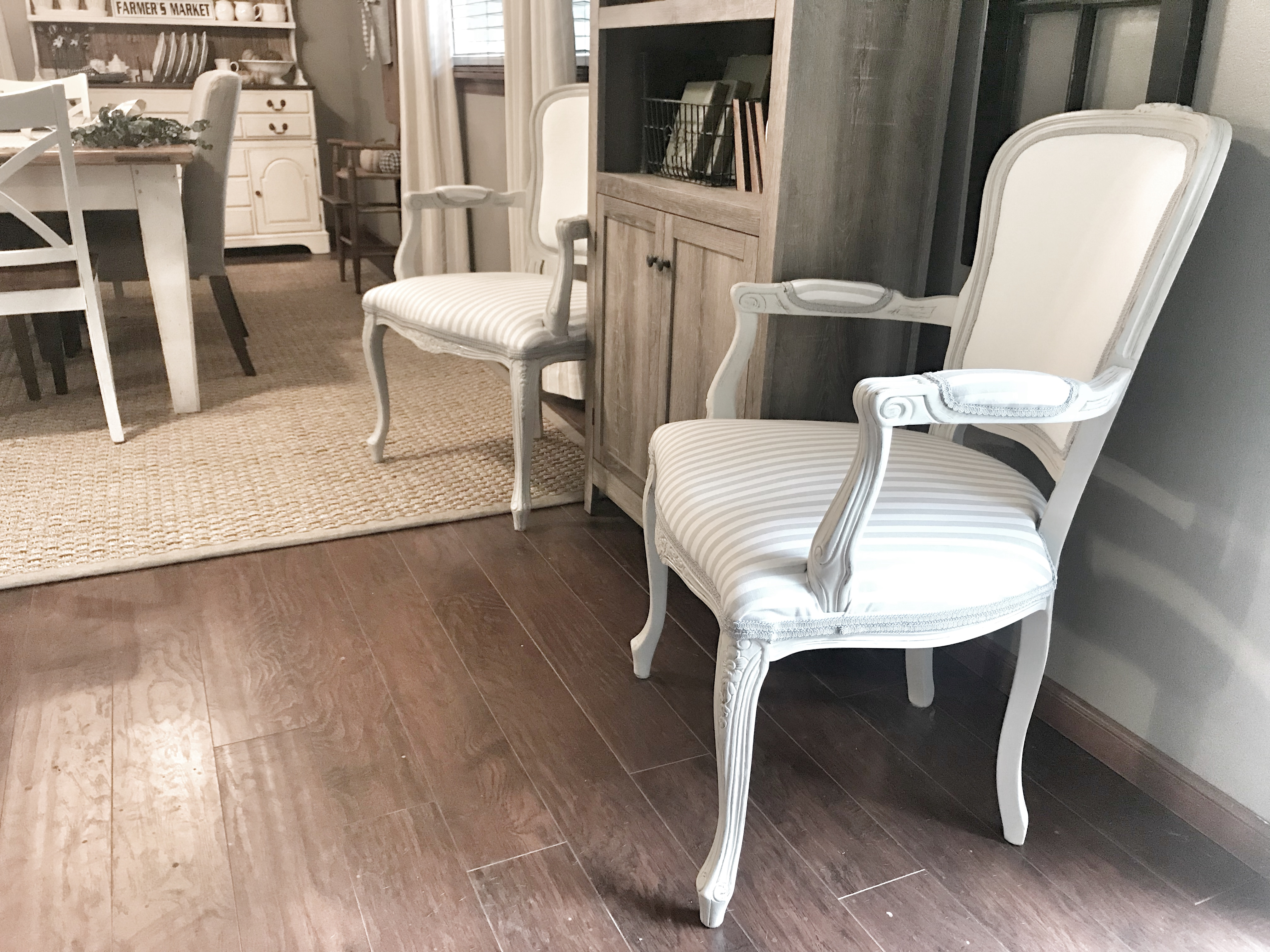 farmhouse style, french style chair update