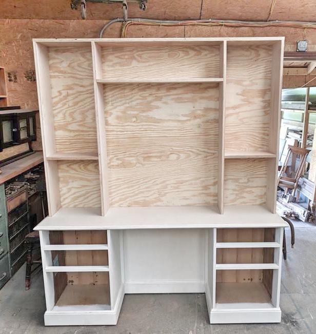 custom vanity hutch, custom furniture