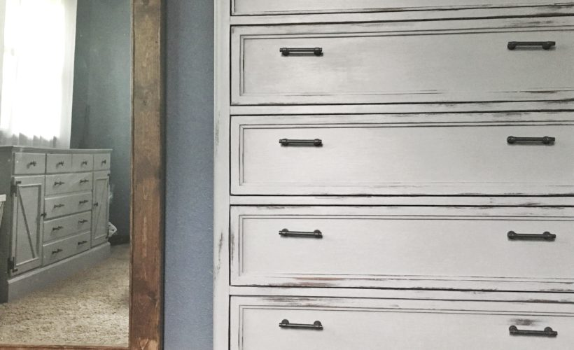 dresser update, his and hers dresser refurbish