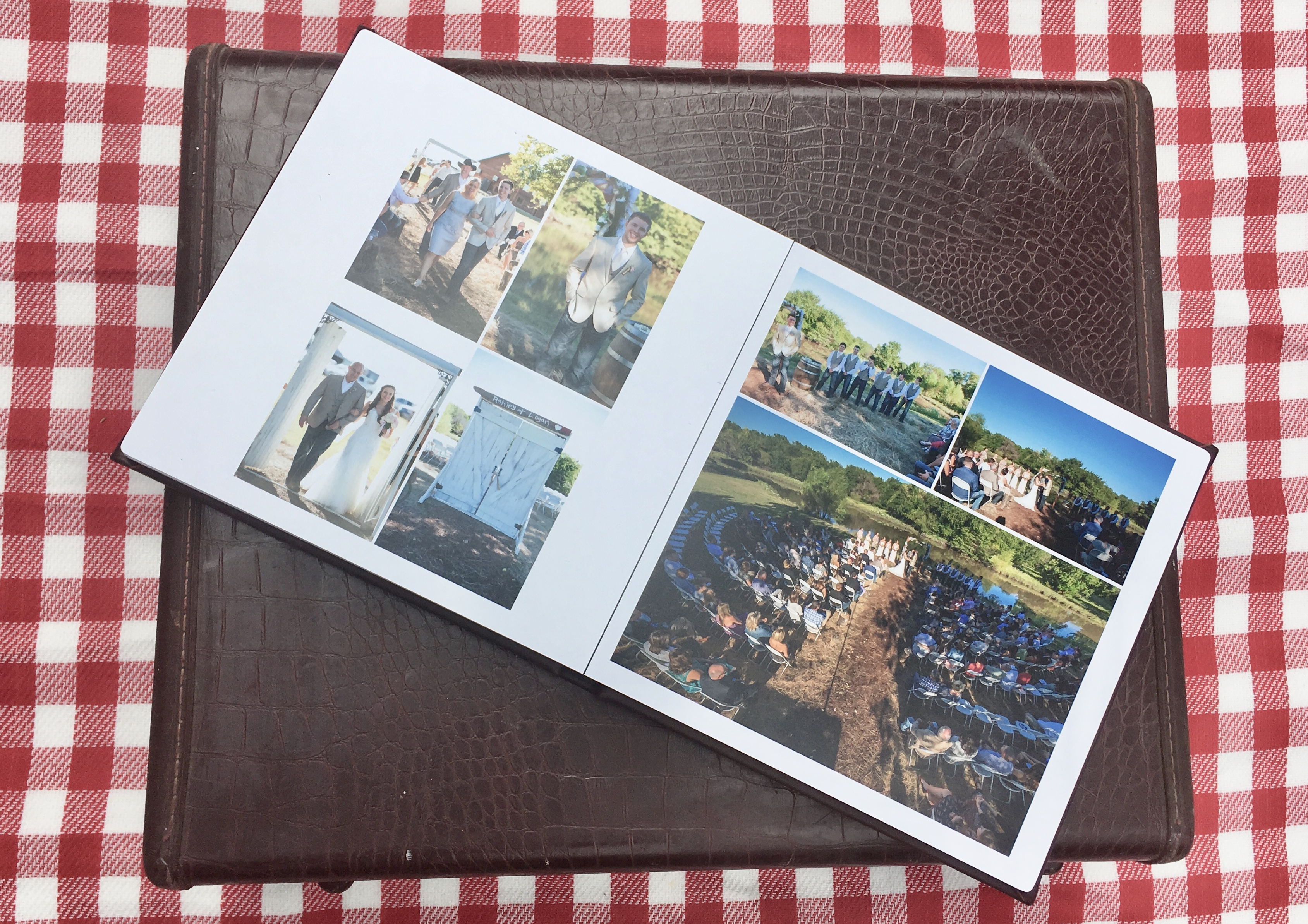 wedding photos, old suit case, picnic anniversary