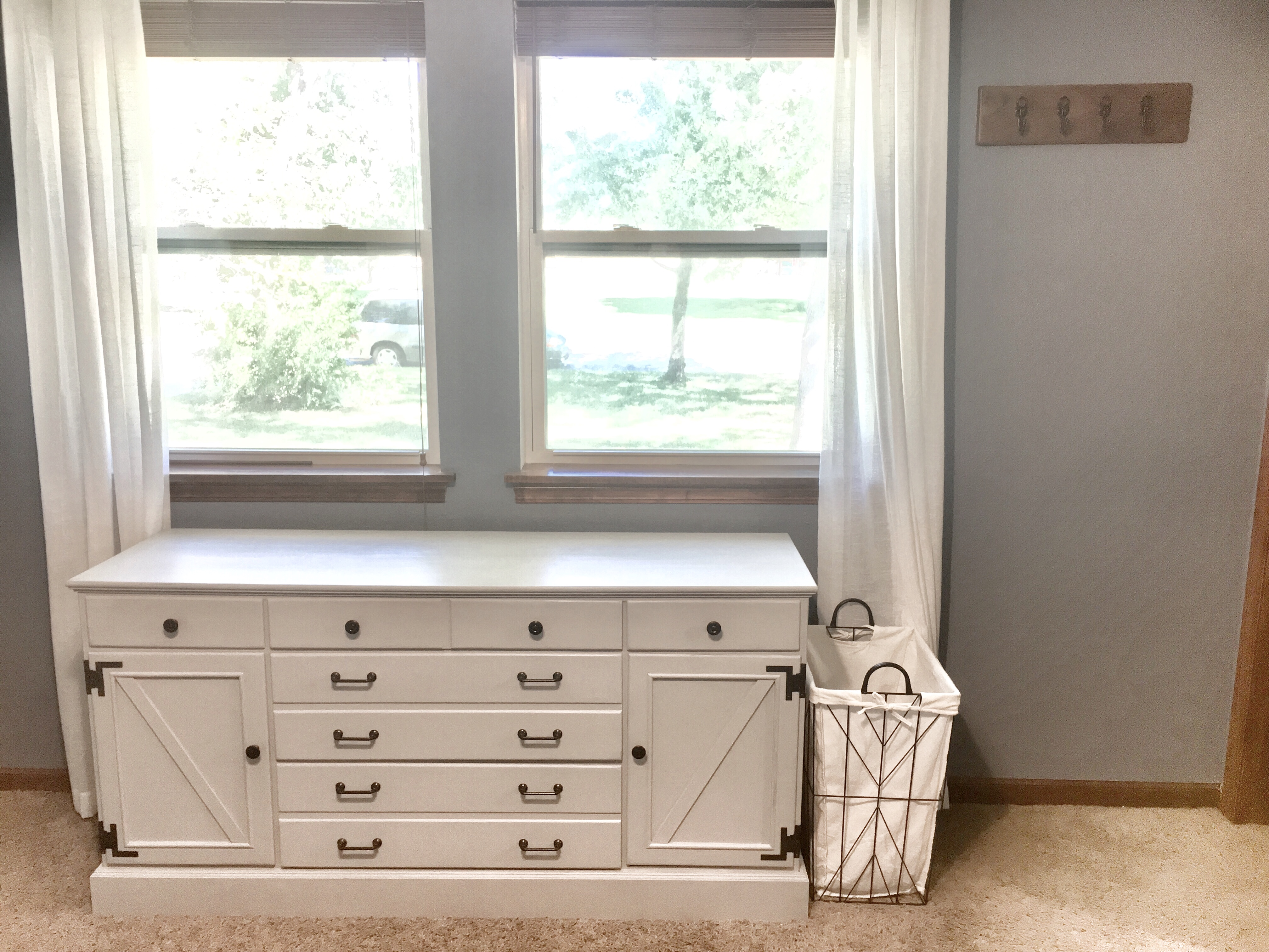 his and hers dresser refurbish, farmhouse furniture, diy