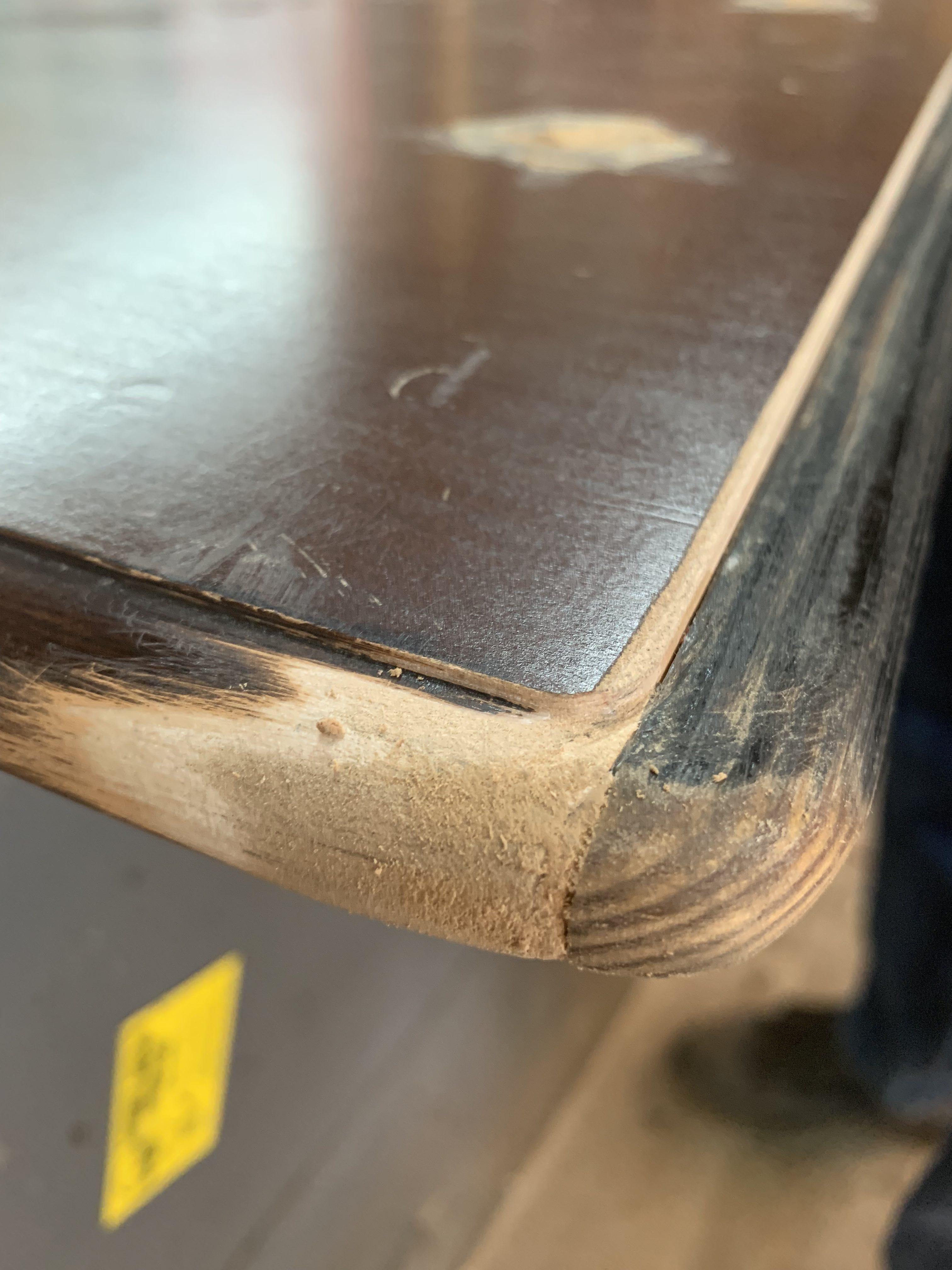 Table top modification, diy furniture refurbish