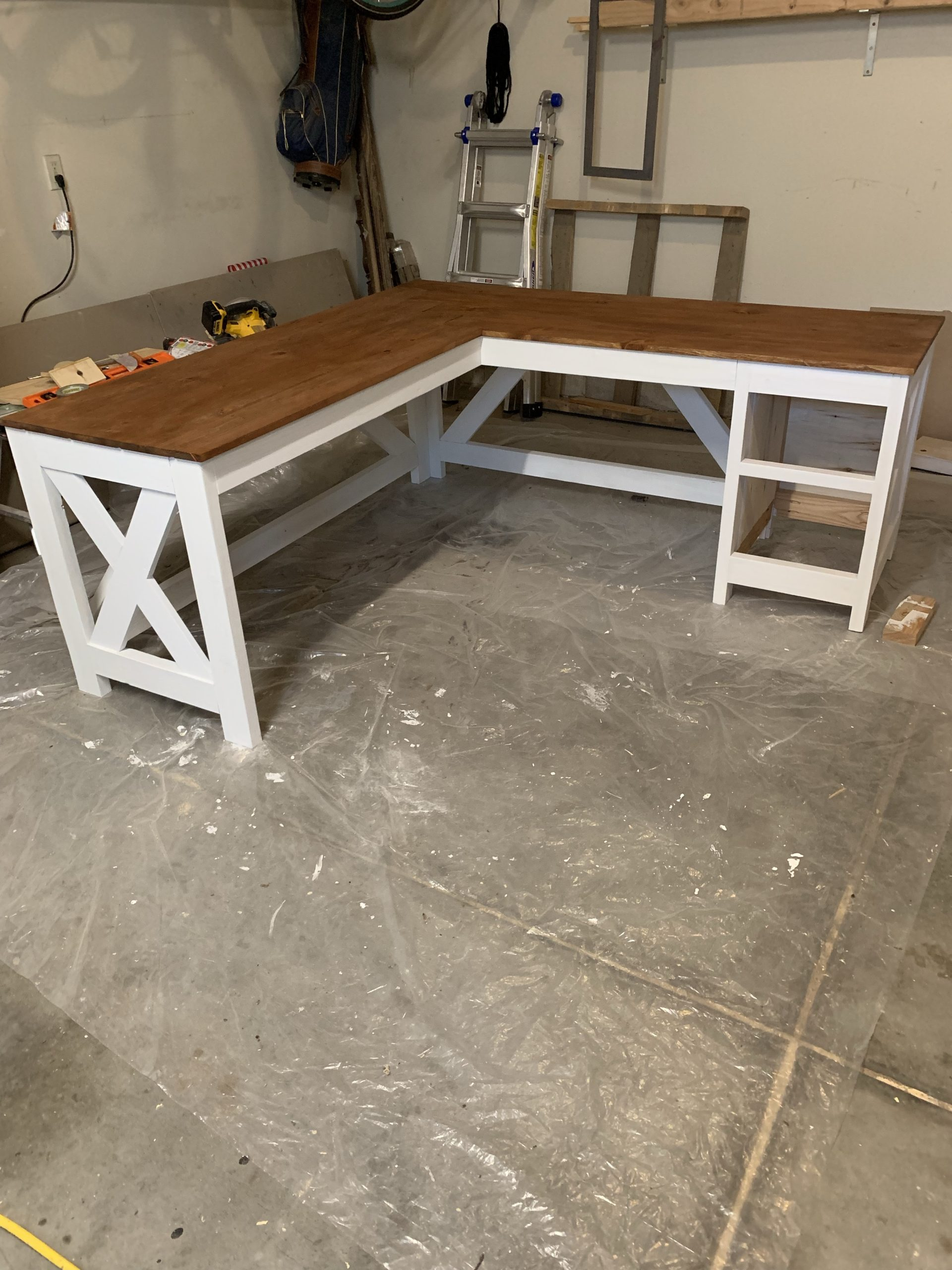 Diy Farmhouse Desk Ashley Diann Designs