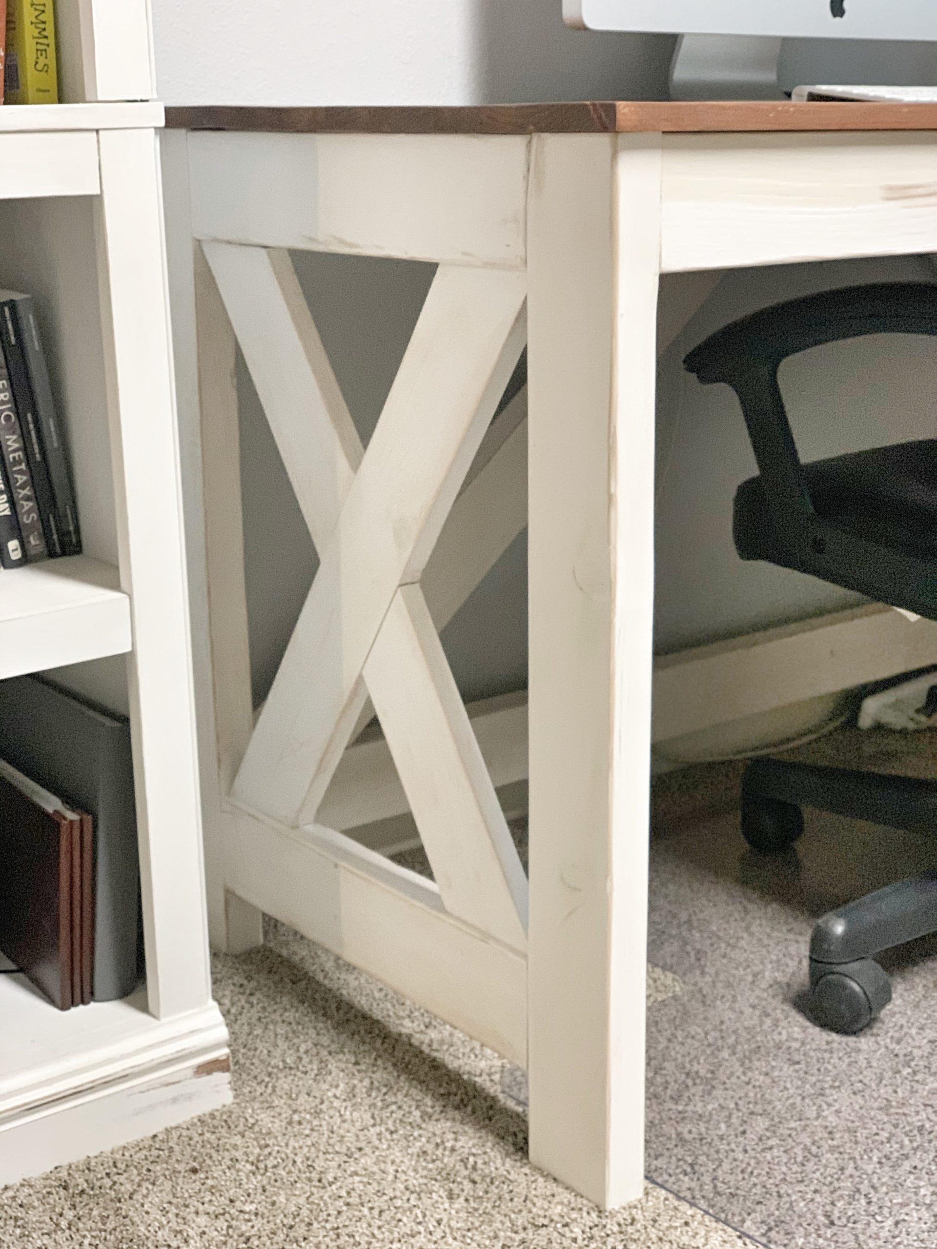 Diy Farmhouse Desk Ashley Diann Designs
