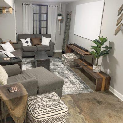 Basement Living Area Tour